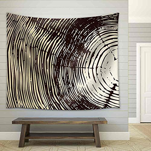 Wood Cross Section Background Fabric Wall