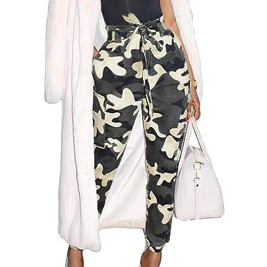 BoBoLily Femme Pantalon Militaire Elégante Mode Casual Printemps Automne  Legging Sport Taille Haute Imprimé Capri Pantalon Pantalons Jogging Spécial  Style ... a0c8a220af5