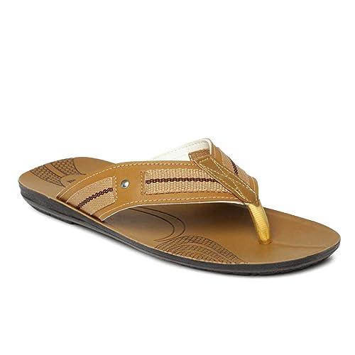 06dc790a3 PARAGON Vertex Men s Brown Flip-Flops  Buy Online at Low Prices in India -  Amazon.in