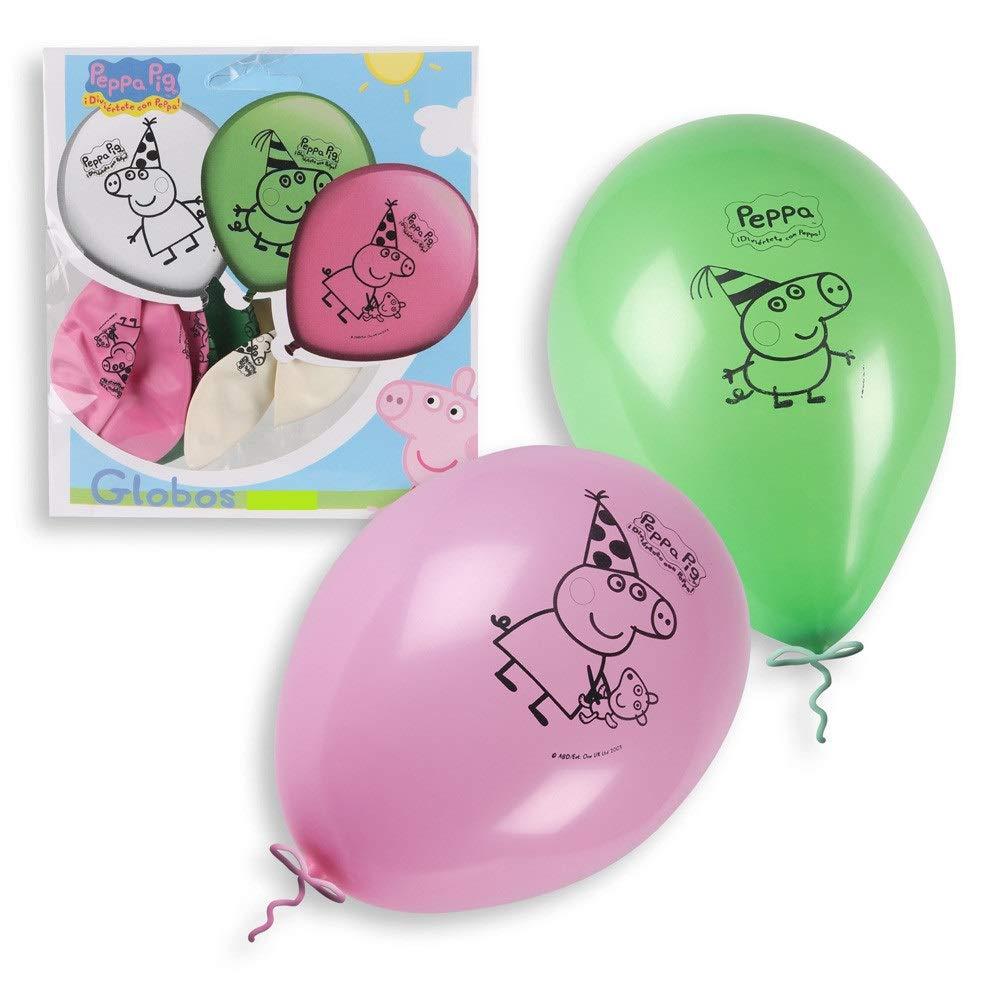 Peppa Pig 0680, Pack 16 Globos Fiestas y cumpleaños. Ideal para Decorar Tus Fiestas.