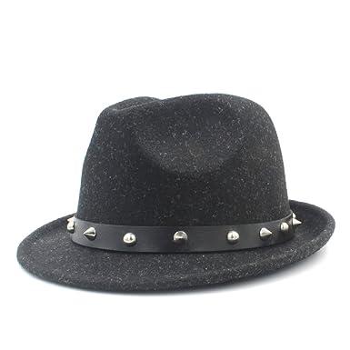 fe71fafca1d SMC 100% Wool Women Men Fedora Hat For Winter Autumn Elegant Lady Dad  Cashmere Trilby