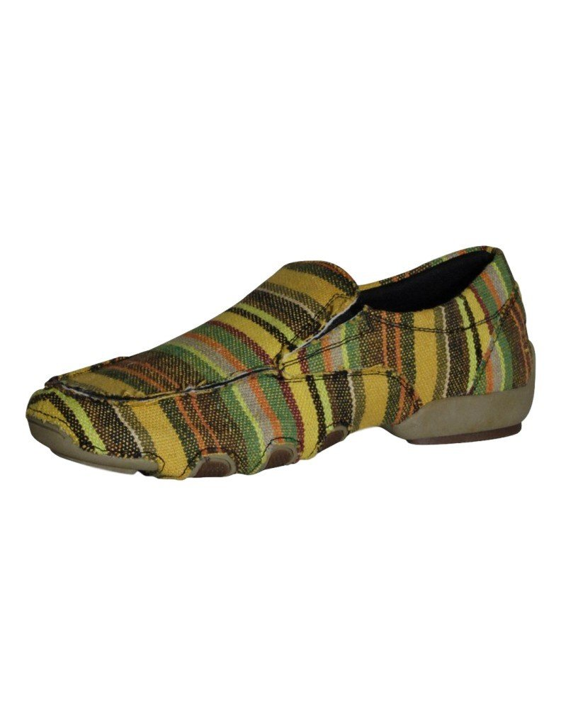 durable service Roper Ladies GoldBrown Stripe Driving Mocs