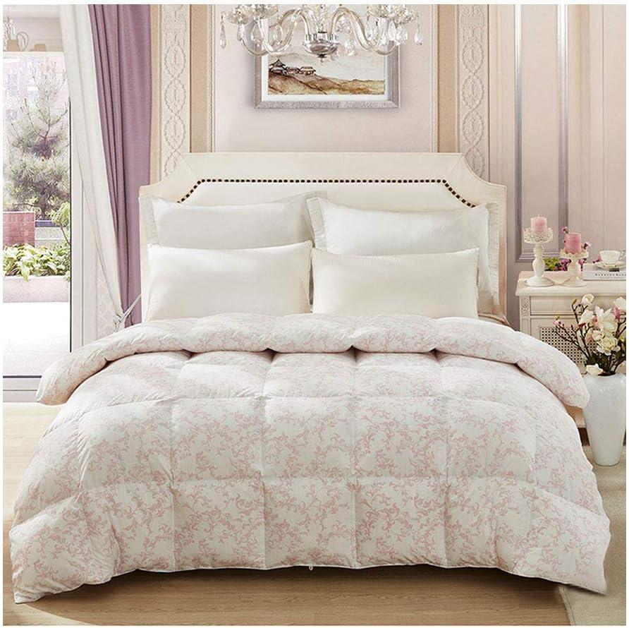 ファッション印刷厚手暖かい秋と冬のダブル布団キルトコアベッドルームホステルベッドライニングを保つ (色 : Pink, サイズ さいず : 200×230cm)