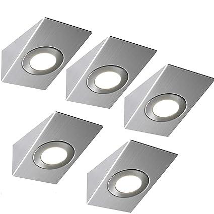 5 x 2.6 W LED wedge spot Lighting & driver kit- finitura in acciaio ...