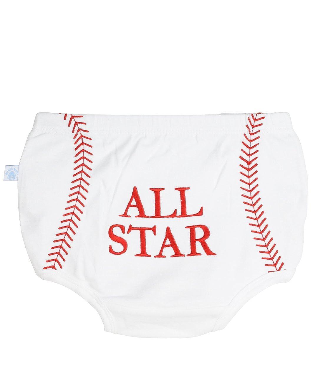 Little Rugged Infant/Toddler Boys' All Star Baseball Bloomer LR-BBKWHXX-BRAS-BABY