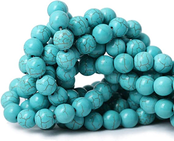 80005173-M17 10MM Howlite Turquoise Beads Star Cut Faceted Grade AAA Genuine Natural Gemstone Loose Beads 15 BULK LOT 1,3,5,10 and 50
