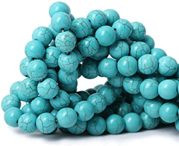 """Natural Stone Turquoise Gemstone Jewelry Making Beads 15/"""" Beauty Beads in Lots"""