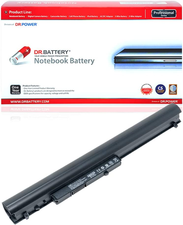 DR. BATTERY HP Laptop Battery 776622-001 Replacement Battery for HP Laptop LA04 Notebook Battery HP Pavilion 14 15 Battery 728460-001 HP 248 G1 Battery HSTNN-DB5M 796352-001 [33Wh/2200mAh/14.8V]