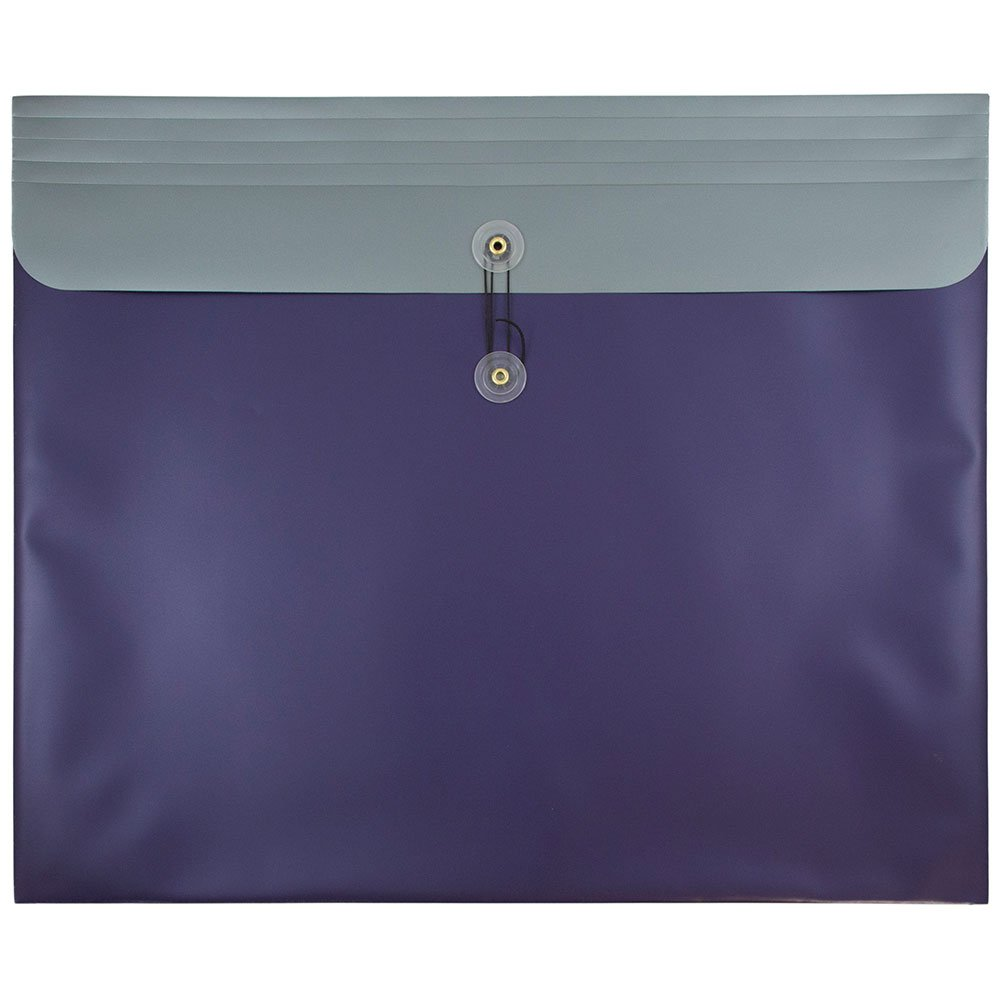 JAM PAPER Plastic Envelopes with Button & String Tie Closure - Large Booklet - 15 x 18 - Metallic Purple - 12/Pack by JAM Paper (Image #1)