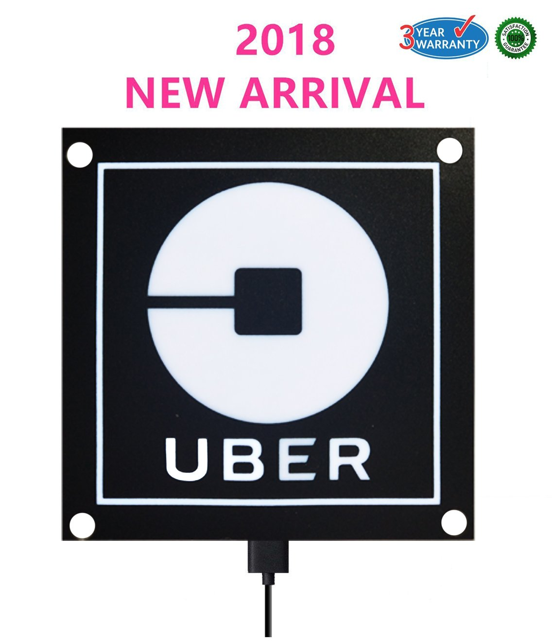 Run helix uber sign light uber logo uber el car sticker glow light sign decal on window with usb powered uber lyft led light sign decal sticker on car