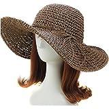 erioctry Style Women Girls Foldable Bohemia Wide Brim Roll-up Crocheted  Summer Straw Hat Sun 2e40d5f44eee