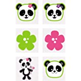 Fun Express Panda Party Tattoos (72 pieces) Temporary Tattoos for Kids, Party Favors and Supplies, Classroom Incentives & Giv