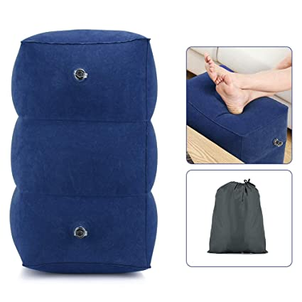 f10a7f50b344 Amazon.com : Inflatable Foot Rest Pillow Adjustable Height Travel ...