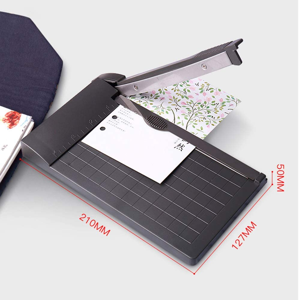 Portable A5 Paper Trimmer Built-In Ruler Office School Paper Photo Cutter Tool