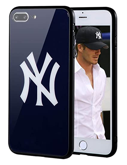 "new product 21795 fb4ae Sportula MLB Phone Case Compatible for Apple iPhone 7 Plus, iPhone 8 Plus  (5.5""), Non-Fading Tempered Glass Cover, Hard PC Protective Board, ..."