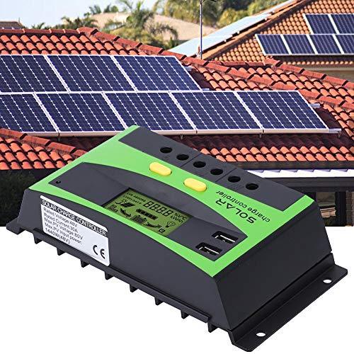 PVC Solar Laderegler, 30A 48V Solar Laderegler IP32 PWM Solar Laderegler 28-10AWG, Überlastschutz, Überstromschutz