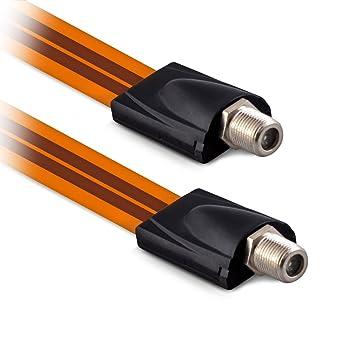 kwmobile Cable Sat de Paso para la Ventana - Cable satélite pasaventana Plano - Cable para