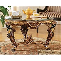 Design Toscano Louis XIV Glass - Topped Cocktail Table