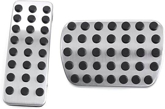 Sport Brake Pedal Pads Cover For Mercedes Benz M GL R Class AMG Stainless Steel
