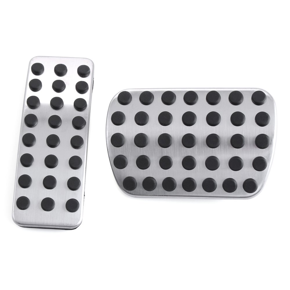 VCiiC Stainless Steel No Drill Fuel Brake Foot Pedals For Mercedes Benz M GL R Class AMG GL350 GL450 GL550 GL63 AMG ML350 ML550 ML63 AMG R350 ML450 GL320 ML320 R320 ML500 R500
