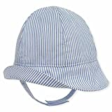 Keepersheep Baby Boys Sun Bucket Hat, Infant Girl Fisherman Hat, Newborn Hat Cap (0-3 Months, Blue and White Stripes)
