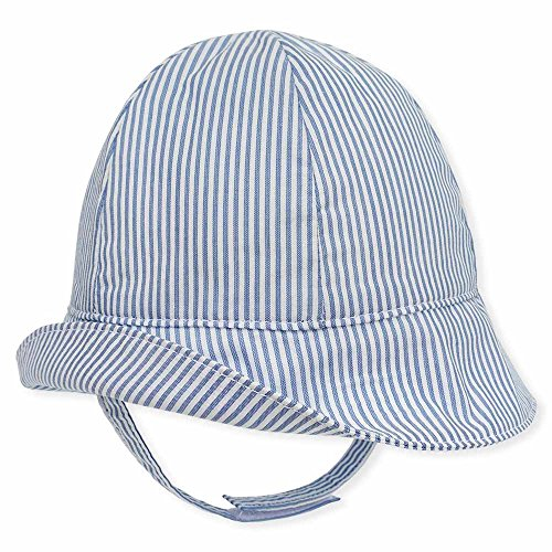 (Keepersheep Baby Boys Sun Bucket Hat, Infant Girl Fisherman Hat, Newborn Hat Cap (0-3 Months, Blue and White Stripes))