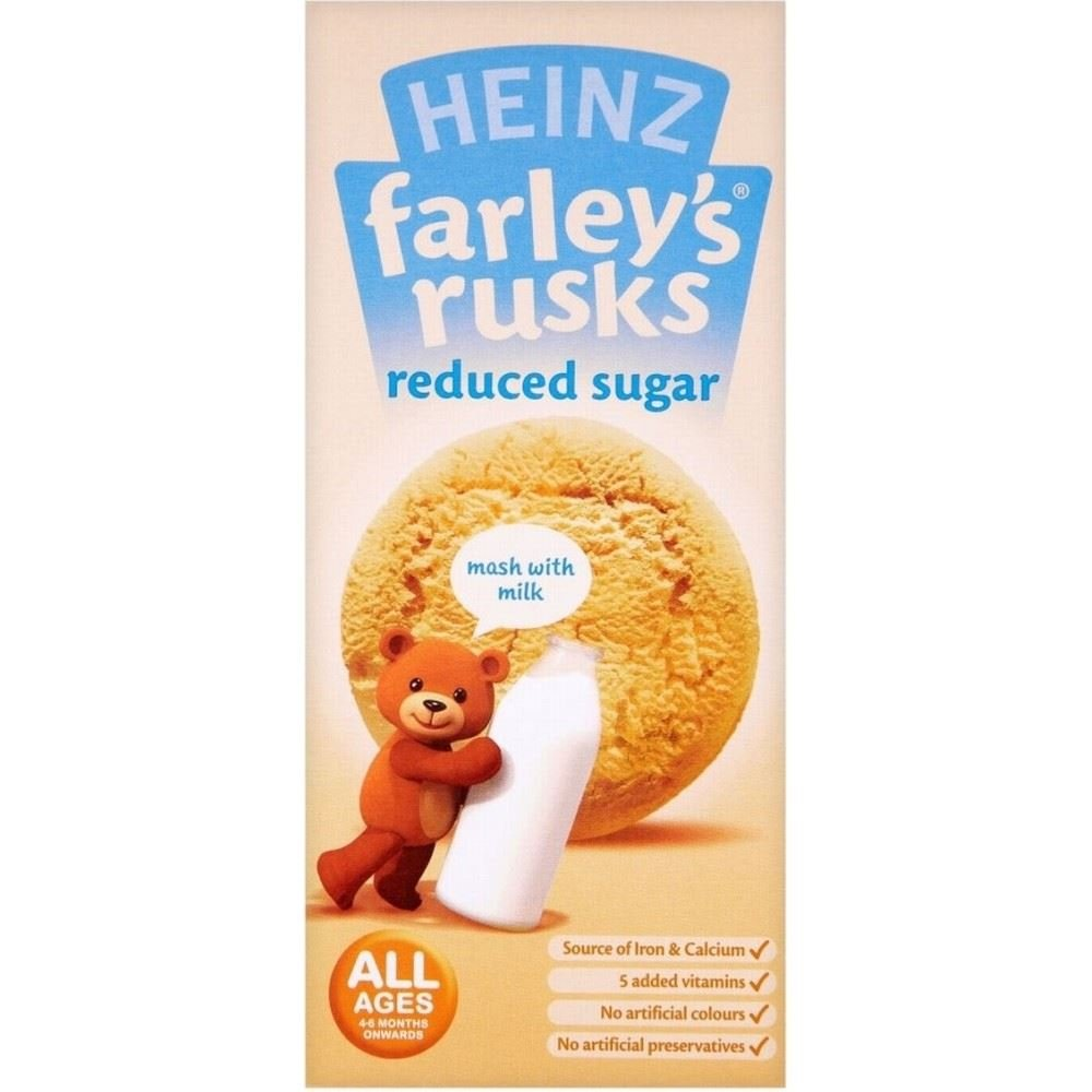 Heinz Farley's Rusks Reduced Sugar 4mth+ (9 per pack - 150g) - Pack of 2 Groceries