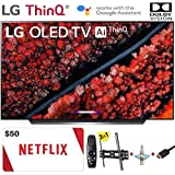 """LG Electronics OLED55C9PUA C9 Series 55"""" 4K Ultra HD Smart OLED TV (2019) w/$50 Netflix Gift Card w/3 in 1 Wall Mount kit- Wall Mount, HDMI Cable, TV Cleaning Kit - LG Authorized Dealer"""