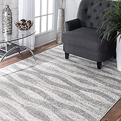 nuLOOM Contemporary Geometric Waves Area Rugs, 2' x 3', Grey - Origin: Turkey Weave: machine made Material: 100% polypropylene - living-room-soft-furnishings, living-room, area-rugs - 61aXBnbv68L. SS400  -
