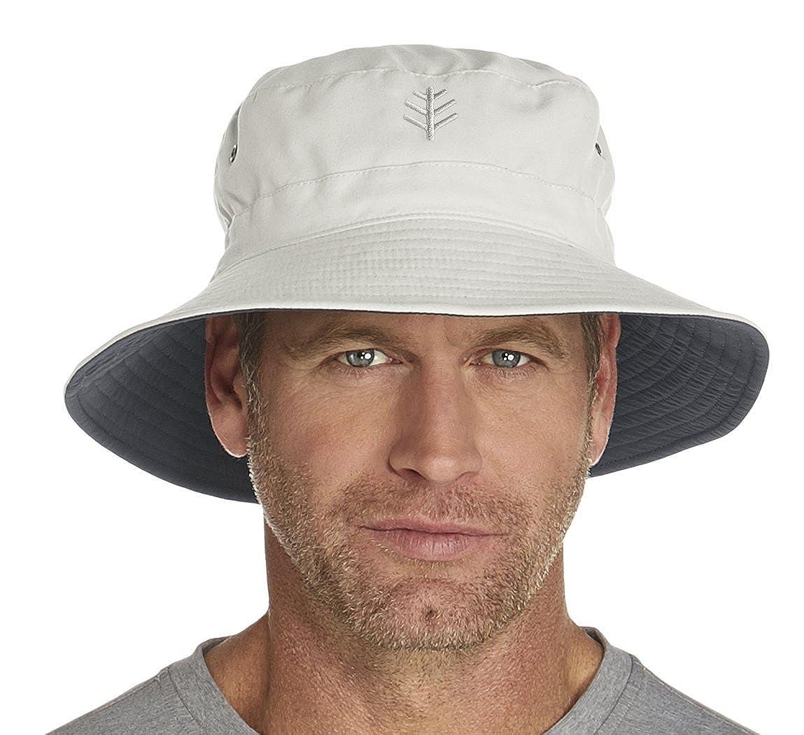 ff9c9fa3bec Coolibar UPF 50+ Men s Reversible Bucket Hat - Sun Protective ...