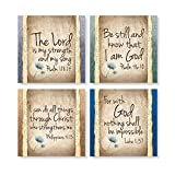 Carson Home Accents Set of 4 Square Stoneware House Coasters, ''Have Faith''