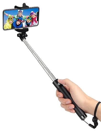 Palo selfie Bluetooth selfie stick pie, Batería de 50 Horas de Duración y Protección Japonesa