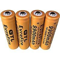 18650 Batería recargable de iones de litio 3.7V 9900mAh Gran capacidad Seguro Práctico medio ambiente Para linterna LED…