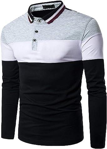 Camisa De Polo Camisa De Manga Larga para Hombre Camisa Ropa De Polo De Estilo Elegante para Hombre Ocio Slim Fit Camiseta De Béisbol Tops: Amazon.es: Ropa y accesorios