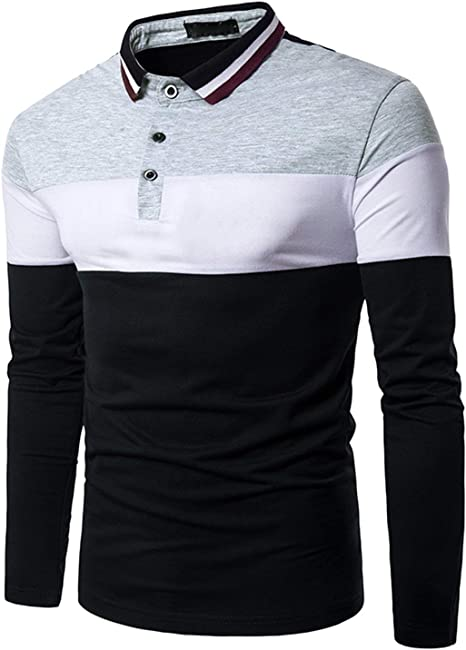 Camisa De Polo Camisa De Manga para Camisa Larga Hombre De Polo ...