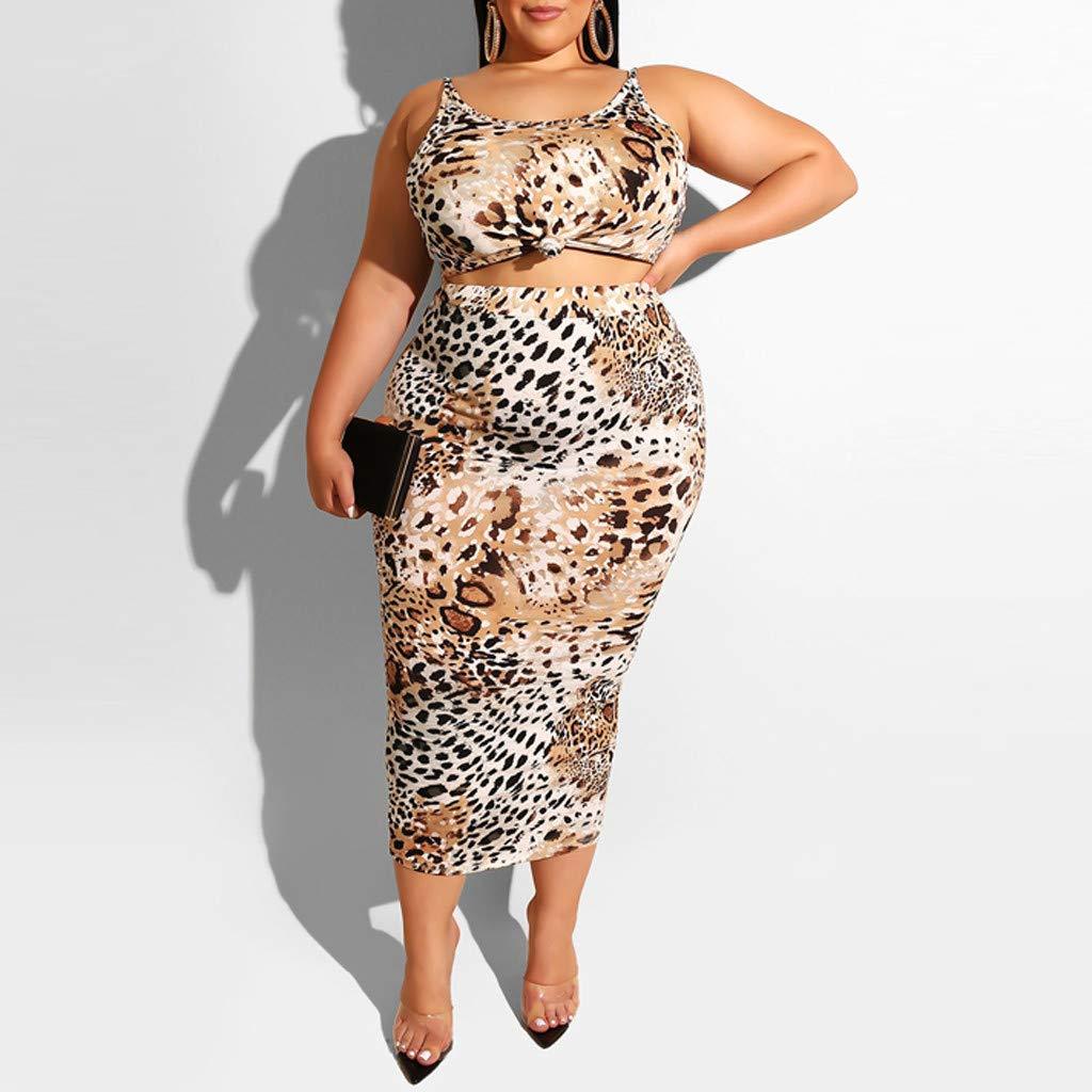 Kids Baby Girl Leopard print Outfits Clothes Tank Tops+Sheath Dress Skirt Set UK