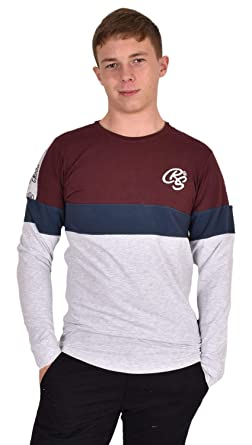 1790069b2a3e Crosshatch Mens T-Shirt Crew Neck Long Sleeve Top: Amazon.co.uk ...