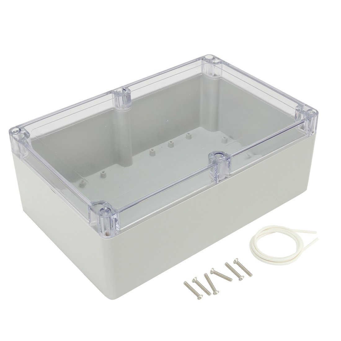 uxcell 9''x5.9''x3.34''(230mmx150mmx85mm) ABS Junction Box Electric Project Enclosure Clear