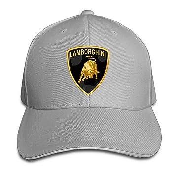 Yhsuk Lamborghini Logo Sandwich Peaked Hat Cap Ash Amazon Co Uk
