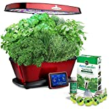 AeroGarden Bounty Elite Wi-Fi with Gourmet Herb Seed Pod Kit, Red