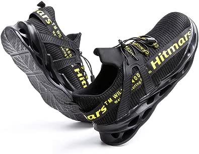 Zapatos de Seguridad Hombre Mujer con Punta de Acero Zapatillas de Trabajo Ligeras y Cómodas Calzado de Construcción Negro Azul Gris Verde Talla 36-48