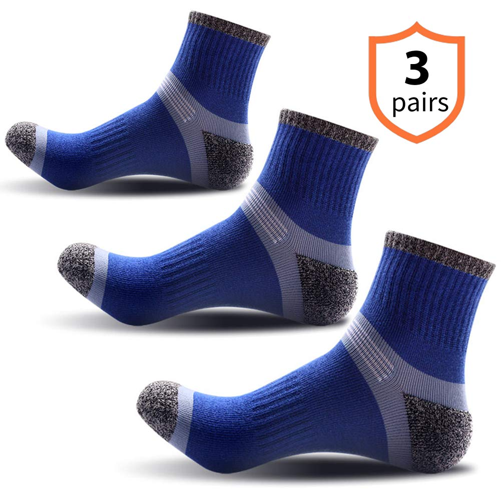 Compression Knee High Socks,Cotton Cushioned Crew Socks,Athletic Low Cut Socks For Men /& Women Soccer Baseball Trail Running Cycling-2 Pairs By Jeopace