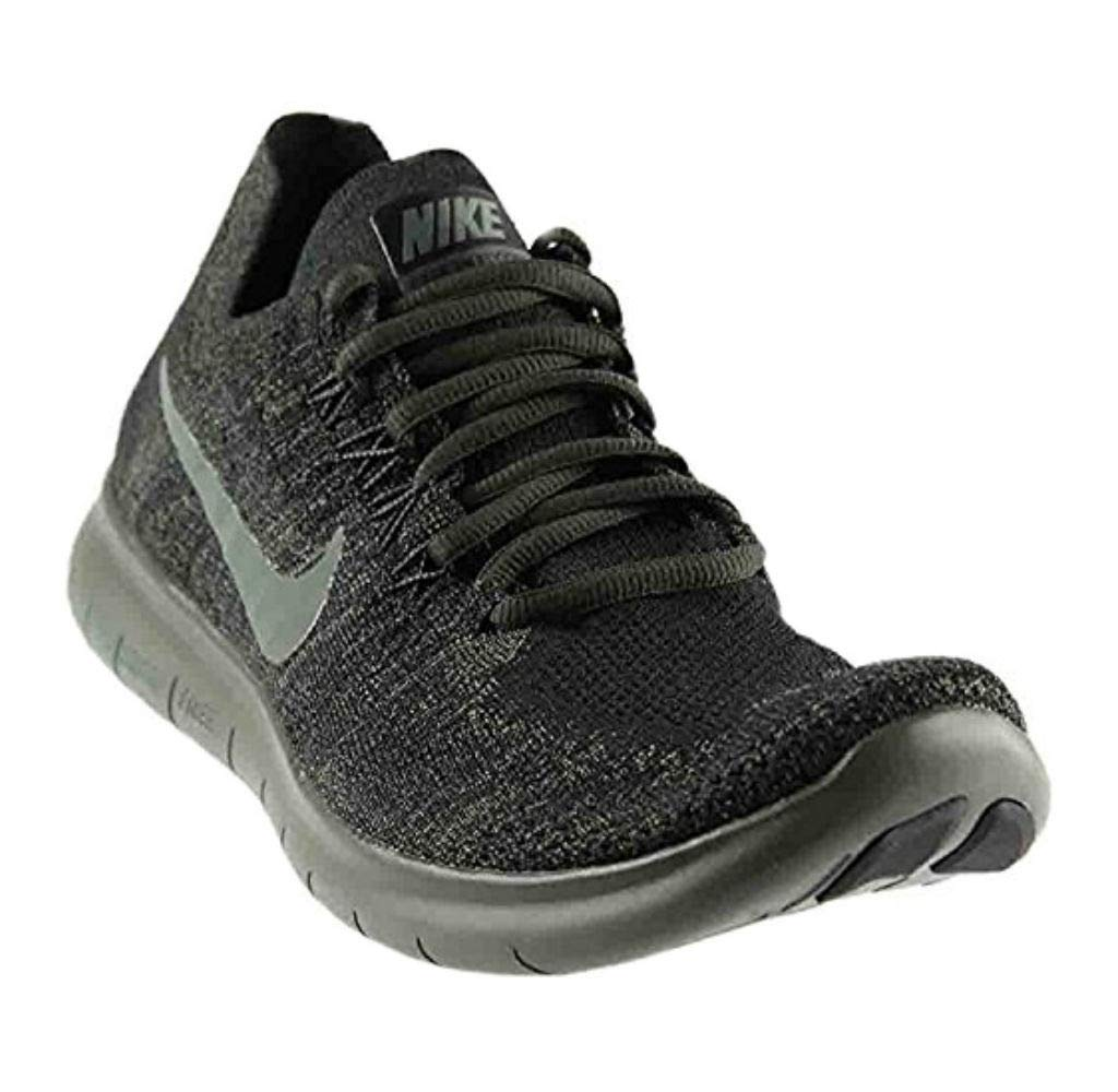 newest 7785c 147b2 Galleon - Nike Men s Free RN Flyknit 2017 Running Shoe Black River Rock- Anthracite-Dark Grey 12.5