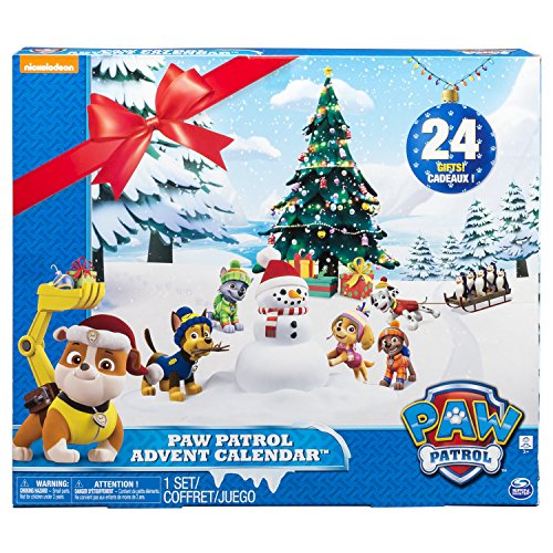Paw Patrol Advent Calendar with 24 Collectible Plastic Figures -