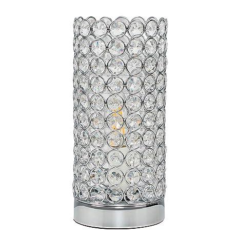 MiniSun - Lámpara moderna de mesa táctil Ducy - auténtico cristal K9 de especial brillo