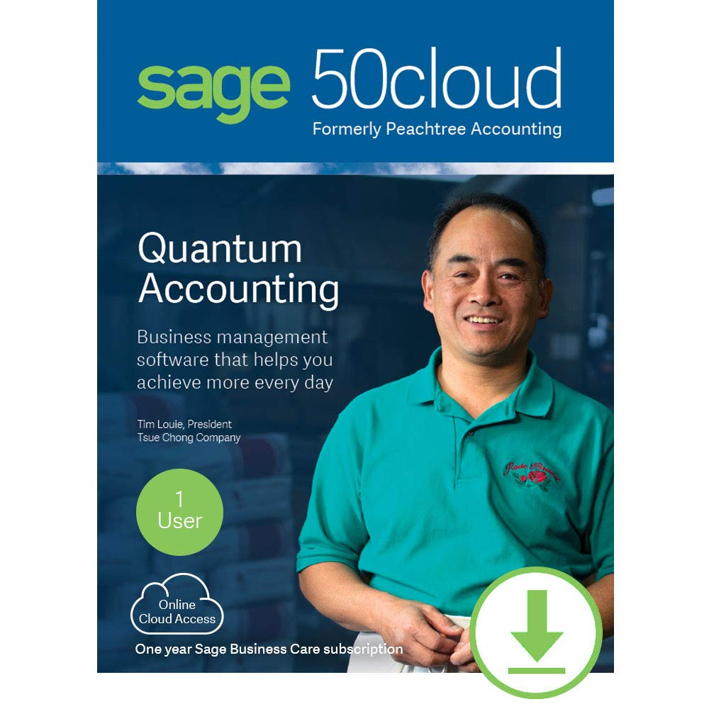 Sage 50cloud Quantum Accounting 2019 1 User [PC Download] by Sage Software
