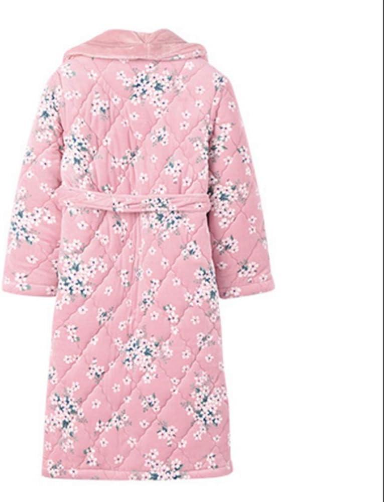 Albornoz Nan Liang Batas de baño, para Mujer Tres Capas de Batas ...