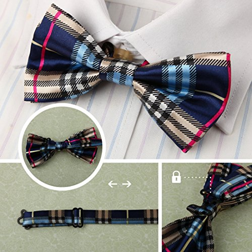 DBF0184 Excellent Bow Ties For Business Pre-tied Bow Ties - 5pc Luxury For Party By Dan Smith by Dan Smith (Image #5)