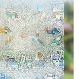 "RABBITGOO Window Film Privacy Window Film Anti UV Window Tint Static Cling Window Film 3D Removable Decorative Glss Film Heat Control Privacy Glass Tint for Home Office Living Room Meeting Room Windows 35.4"" x 78.7"" (90 x 200 CM)"