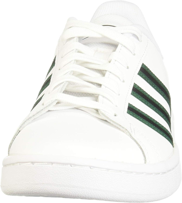 adidas Men's Grand Court Tennis Shoe Ftwr White Collegiate Green Core Black